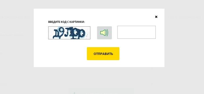 Сервис попросит вас ввести проверочный код с картинки и после этого вам будет предоставлены сведения оналичии вашей задолженности.