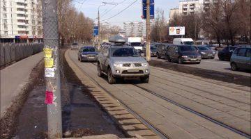 Штраф за движение по трамвайным путям